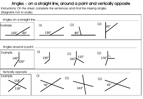 Basic angle facts recall starter