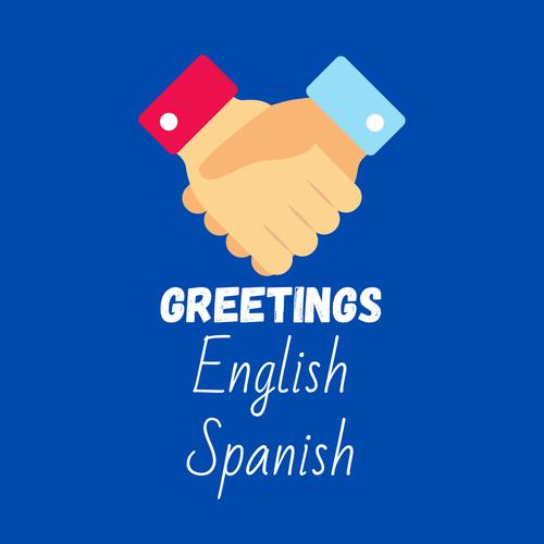 ESL EAL Spanish to English Communication cards greetings