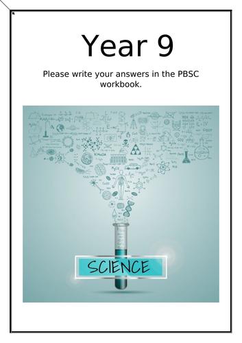 year 9 Science workbook