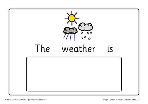 The weather is widgit symbols