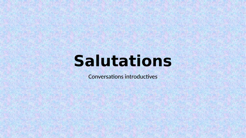 Salutations (Greetings in French) PowerPoint Distance Learning