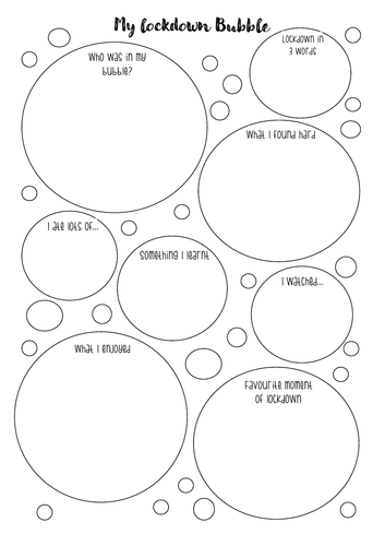 'My Bubble: lockdown diary'