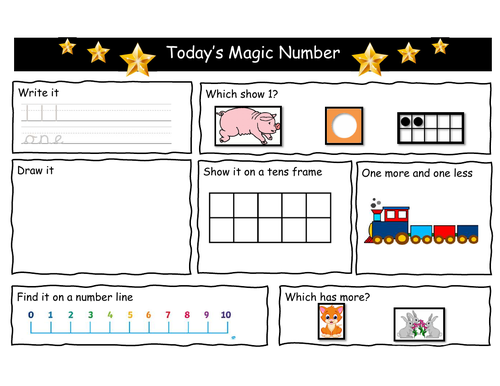 EYFS Year 1 Magic Number of the Day