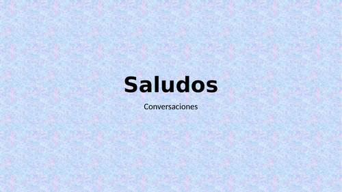 Saludos (Greetings in Spanish) PowerPoint Distance Learning