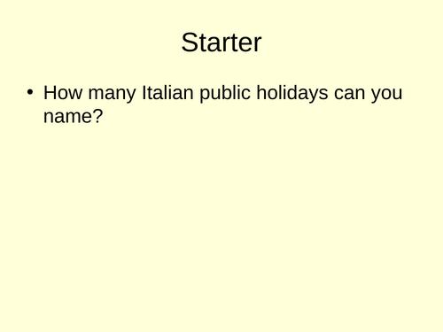Italian GCSE Palio di Siena