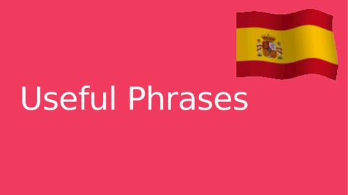 Spanish Useful Phrases
