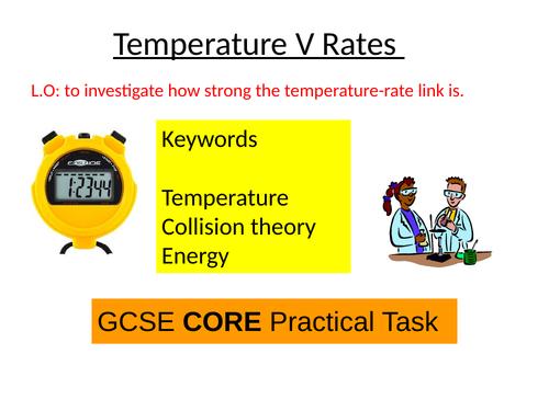 Edexcel core prac temperature V rates sodium thiosulfate reaction