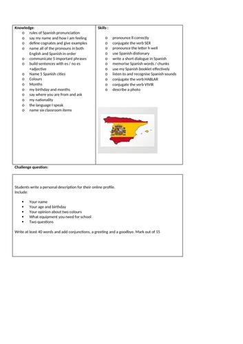 Curriculum - secure descriptors-first half term
