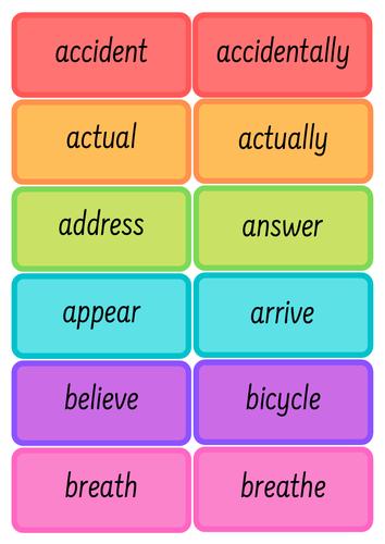 UKS2 Common Exception Words