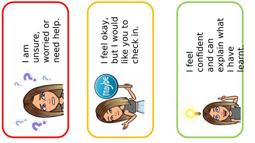 Assessment book box labels