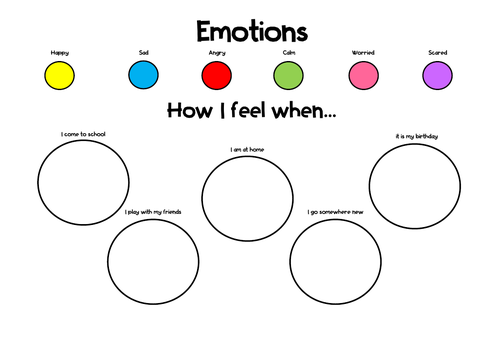 Colours of Emotions Printable