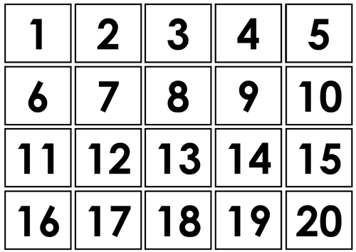 Individual numbers 1-20 symbols - Autism/ASC/SEN/Maths/Number