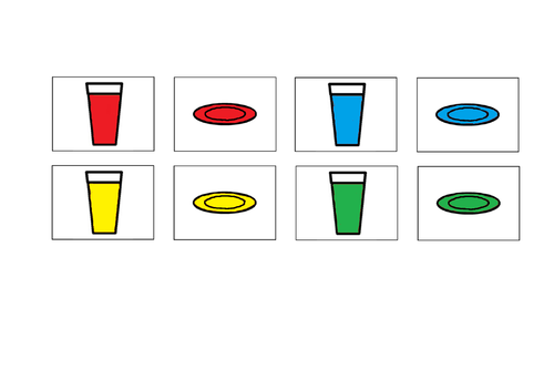 Colour matching plates and cups and pairing socks - ASC/SEN/Autism