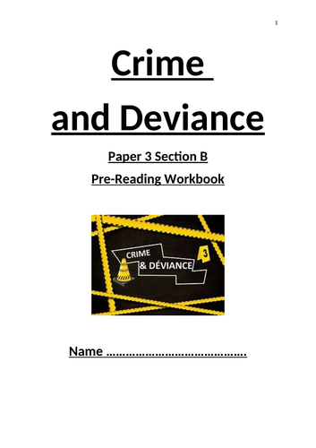 Crime & Deviance guided note taking book OCR sociology
