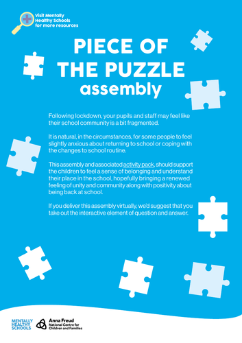 Piece of the Puzzle - Back to school assembly