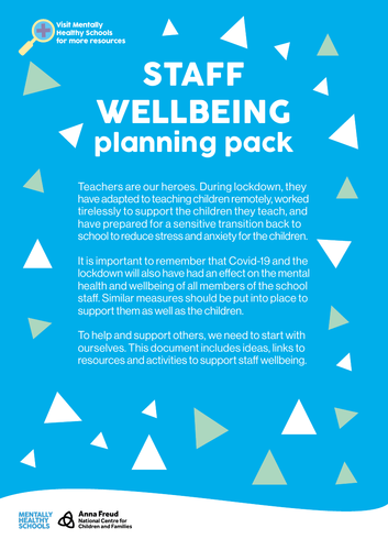 Supporting Staff Wellbeing in the return to schools following Coronavirus
