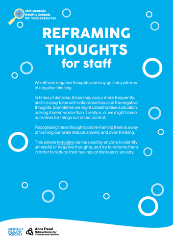 Reframing Thoughts - Activity for staff