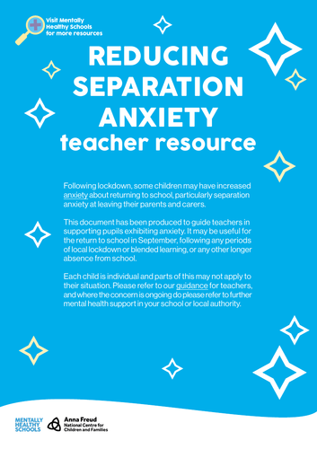 Separation Anxiety - Tools for teachers