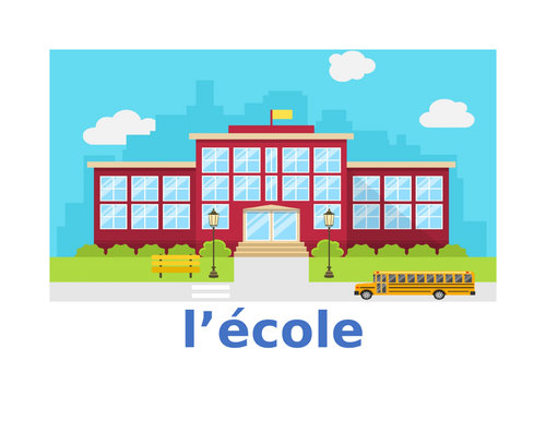 École (School Places in French) Posters