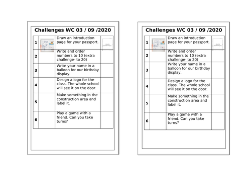 Challenge page for passport
