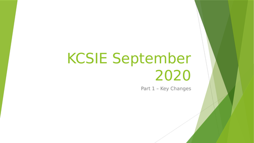 KCSIE 2020 - staff training including Powerpoint, Quiz and handout