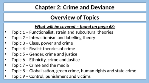 AQA A Level - Sociology - Introduction to Crime and Deviance