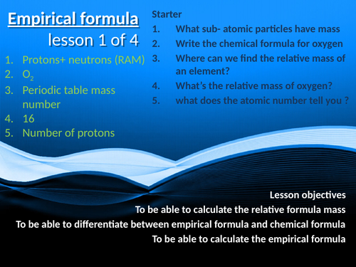 CC9a - empirical formula
