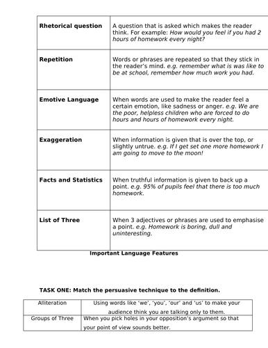 Creative / figurative language matching tasks