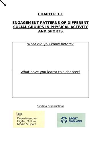 OCR GCSE PE- Engagement Patterns in Sport (3.1)