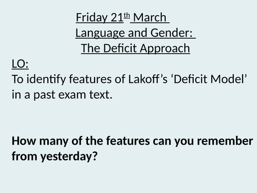 English language deficit and difference models 3 lessons