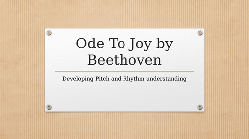 Ode to Joy - Music appreciation lesson ideal for remote learning