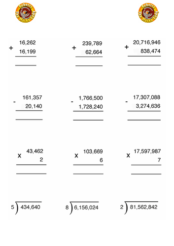 Calculating with large numbers