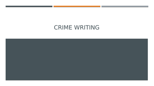 GCSE English: Creative Writing