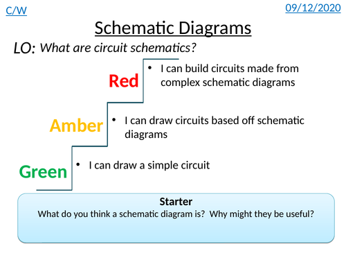 Reading Schematics (Lesson 2 of WJEC GCSE Electronics)