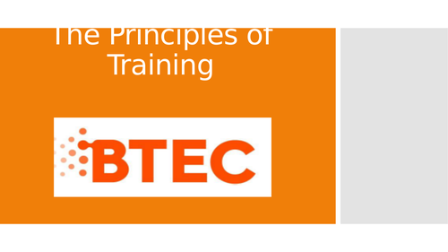 Lesson 4: The Principles of Training (BTEC First Sport Level 2, unit 1)