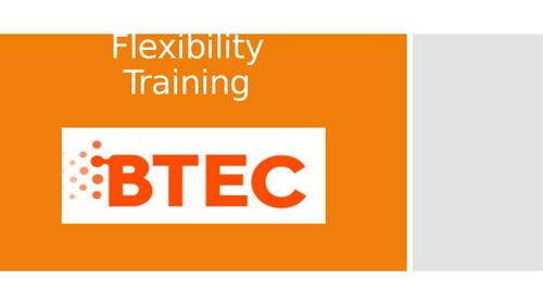 Lesson 5: Flexibility Training (BTEC First Sport Level 2, unit 1)