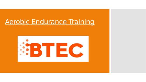 Lesson 7: Aerobic Endurance Training (BTEC First Sport Level 2, unit 1)