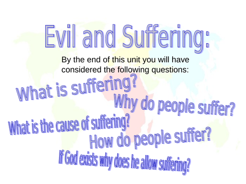 The Problem of Evil - 7 complete lessons including SOW, Assessment and Marking Guidance