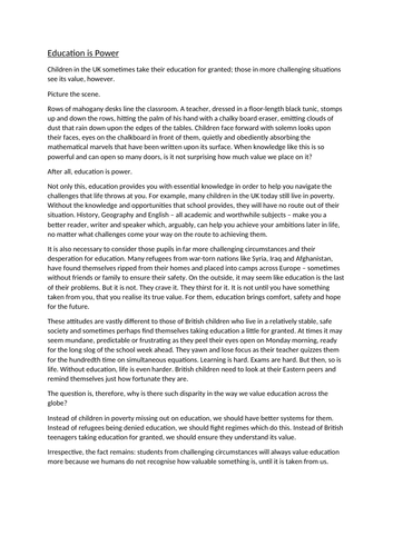 AQA English language paper 2 Q5 article/explain response full marks