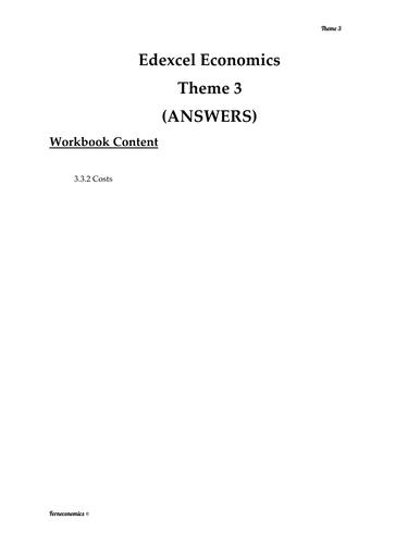 Edexcel Economics Theme 3: 3.3.2 Costs