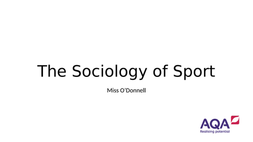 AQA A Level Chapter 3.2 Sociology of Sport