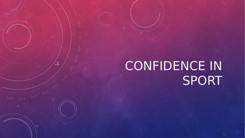AQA A Level PE - Confidence & Self Efficacy (Sport Psychology)