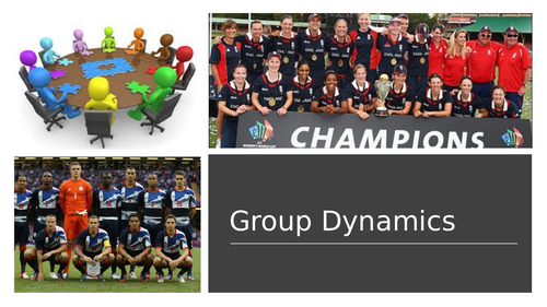 AQA A Level PE - Group Dynamics (Sport Psychology)