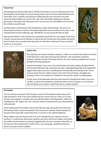 Bog Bodies and Ice Mummies