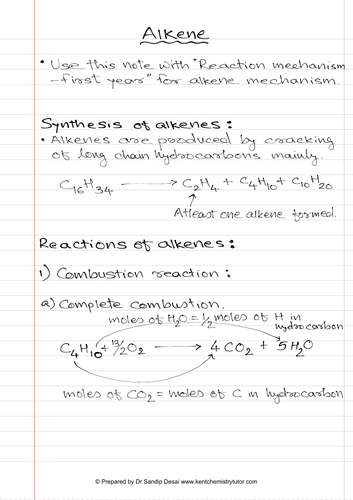 A level - Alkene