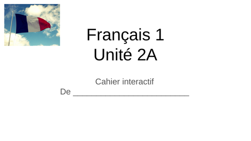 Virtual notebooks for French 1