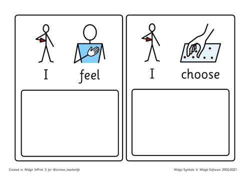 I feel I need/I feel I choose widgit symbols