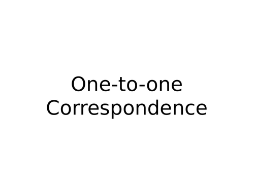 Year 1 - One to one correspondence PPT