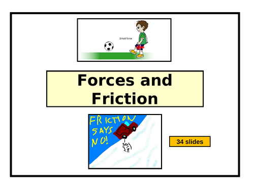 Forces & Friction PowerPoint - 34 slides