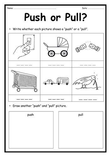 Push or Pull - Forces Worksheet
